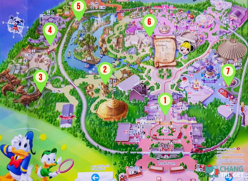 แผนที่สวนสนุก ฮ่องกงดิสนีย์แลนด์