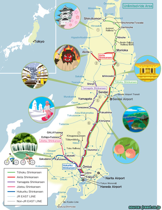 sendai tohoku attraction area pass