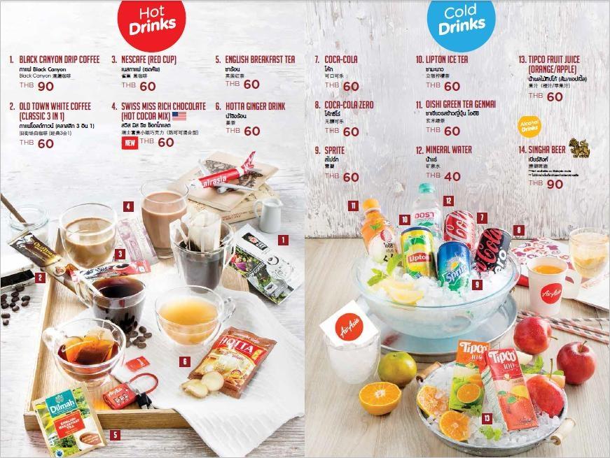 airasia-in-flight-menu-3 ธนาคารกรุงเทพ แอร์เอเชีย รับเครื่องดื่มฟรี บนไฟลท์ แอร์เอเชีย