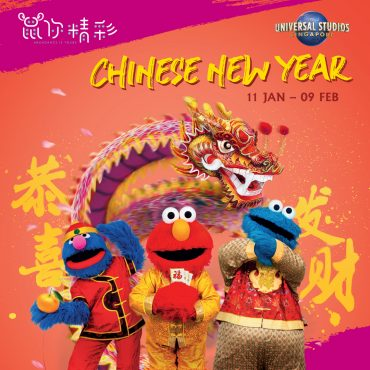 Minion elmo Chinese New Year at Resorts world sentosa