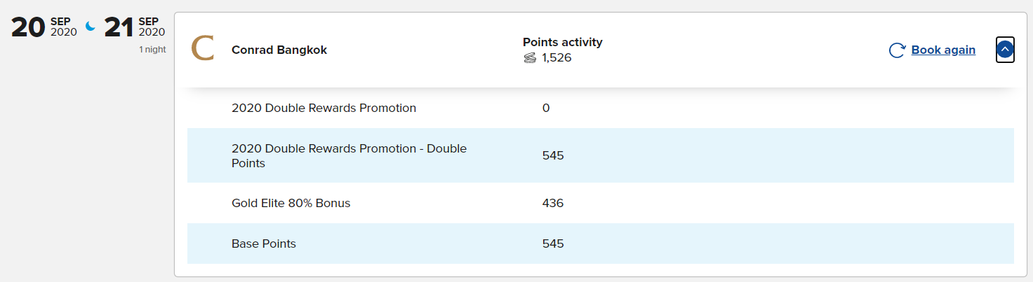 double point plus double night activity